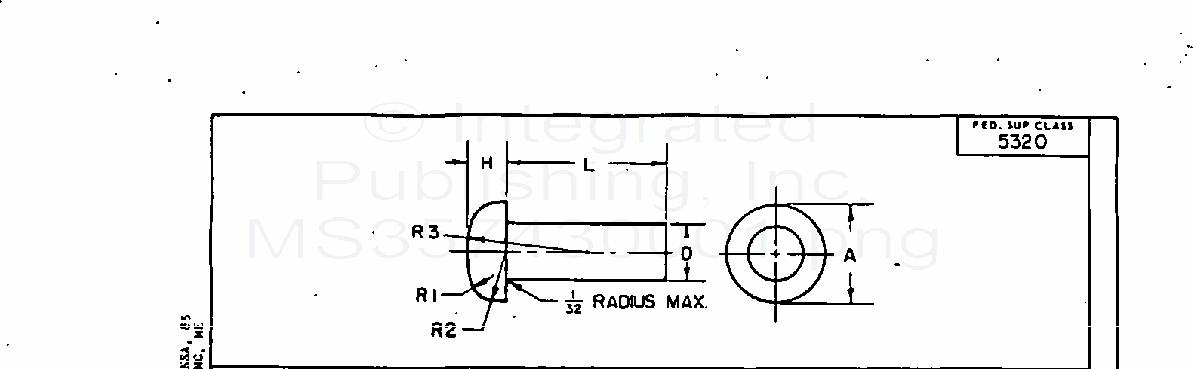 MS35743 Rivet, Solid, Small, Pan Head, Steel, Annealed